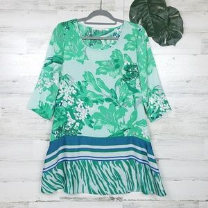 Collective Concepts Mixed Print Tunic Top